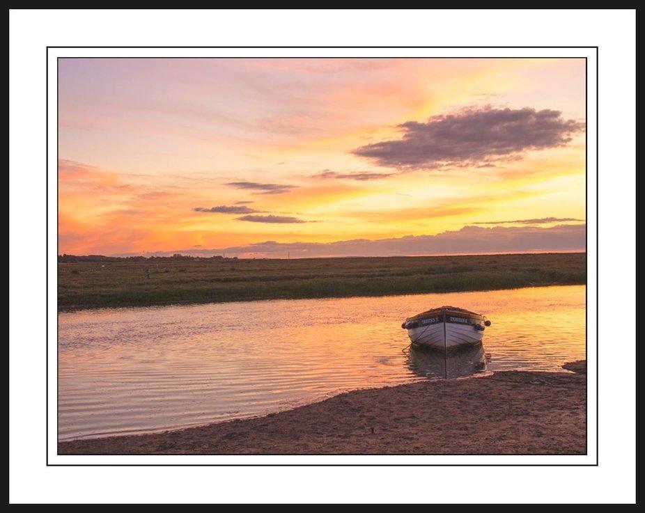 Sunset at Blakney Quay, Norfolk