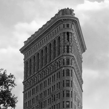Flatiron Building (detail) in B&W