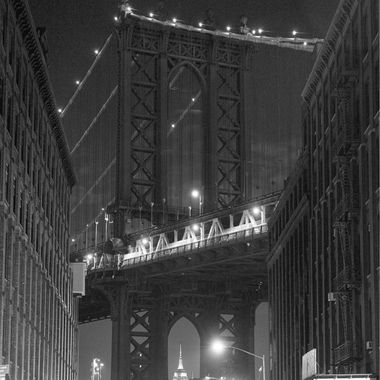 Manhattan Bridge and the Empire State (from DUMBO)