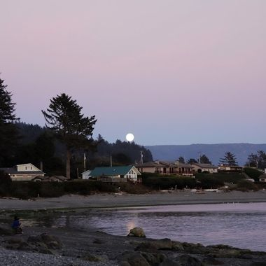 The Smith River and the rising moon 2
