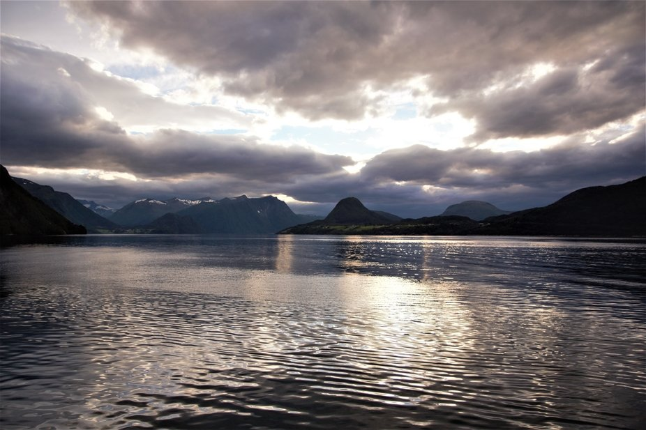 Romsdalsfjorden, outside the town of Åndalsnes, Norway. Photo taken in August, year 2015.