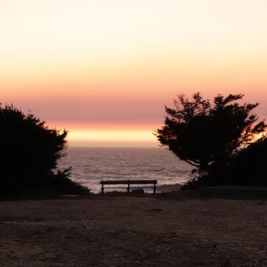 Just the perfect bench to sit in to watch the sunset - quiet and isolated.