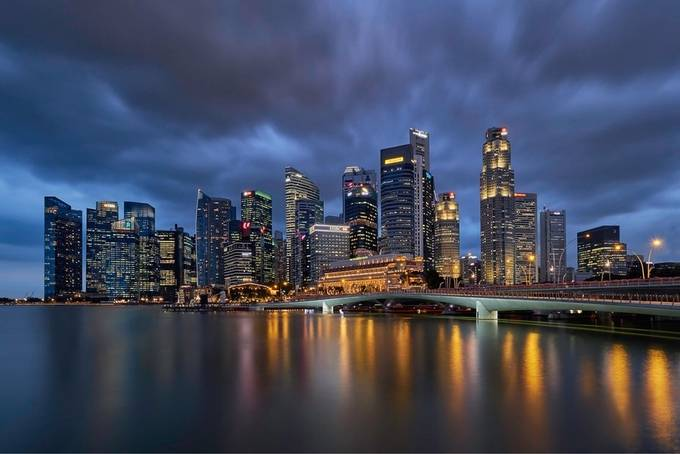 Singapore Skyline by jefrilay - Bright City Lights Photo Contest