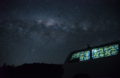 Camping under the Milky Way in New Zealand