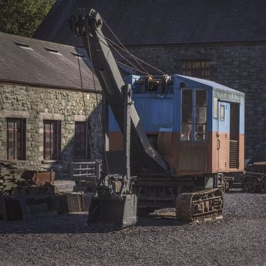 The Slate Museum at Llanberis .. a well preserved old tracklaying vehicle.