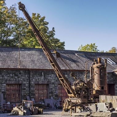 A steam-powered crane at Llanberis Slate Museum