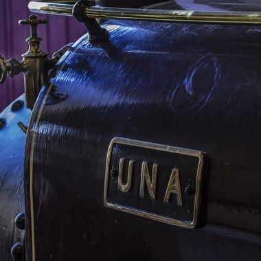 Una is a Railway Engine that pulls trains along the bank of Llyn Padarn at Llanberis... shown in the shed
