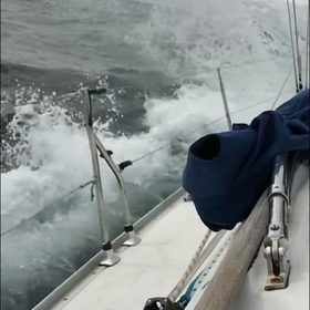 28knots in near the solent sailing towards weymouth
