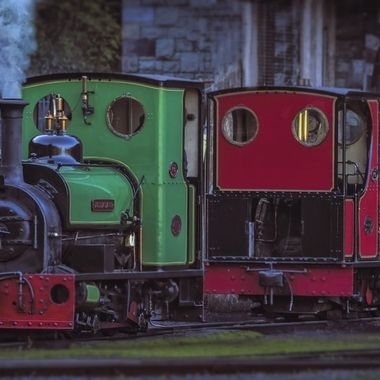 The Llanberis Lakeside train track is very colourful and the refurbished quarry trains are a real crowd pleaser