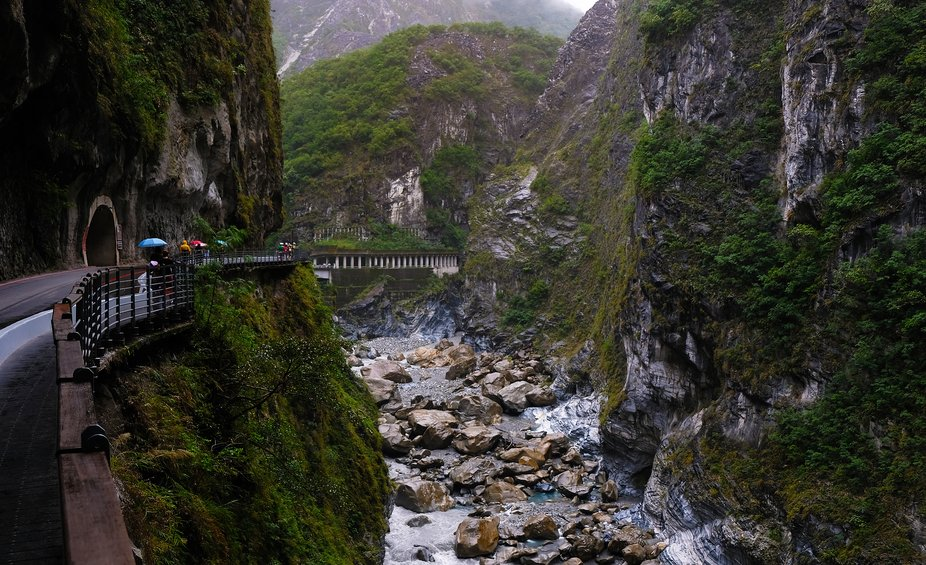 This is a huge canyon outside Hualien in Taiwan with a lot of hiking trails with different diffic...