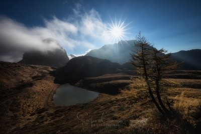 Pera lake in North east of Italy