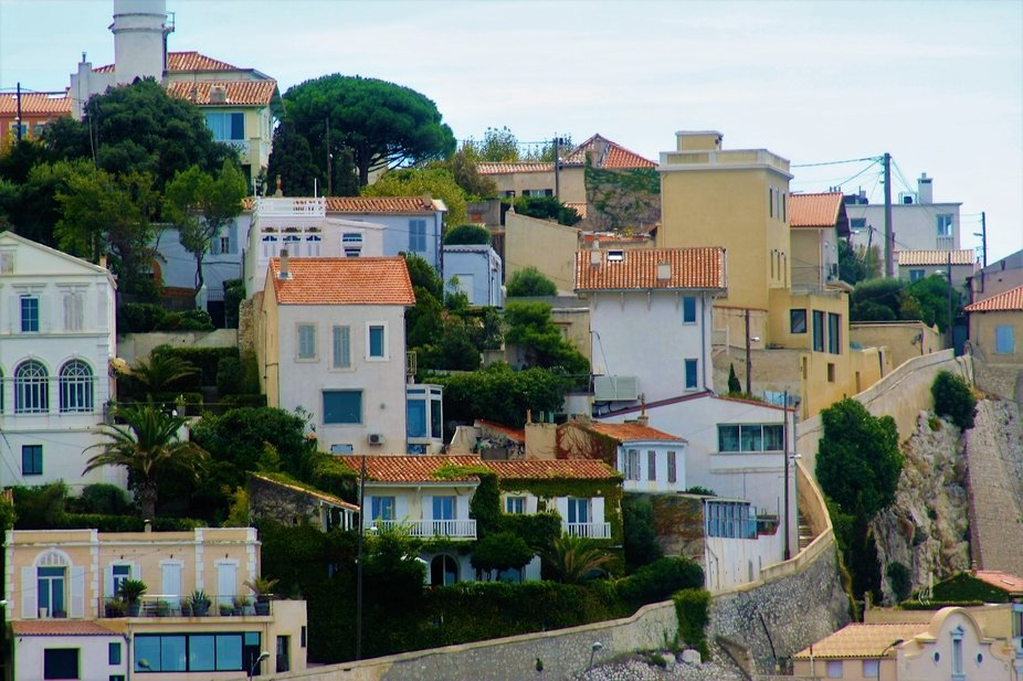 Taken in Marseille, France from the small tourist train tour