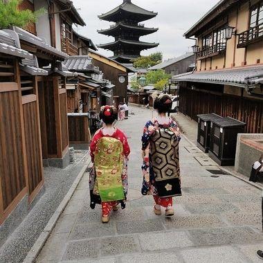 walking trough old Kyoto