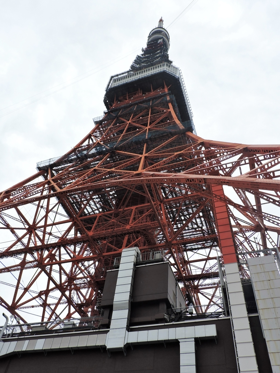 Lower view of Tokyo Tower