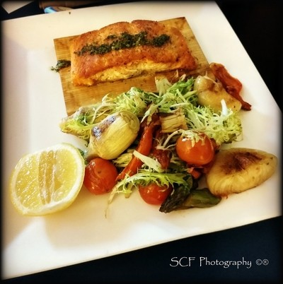 Salmon delight in room 228