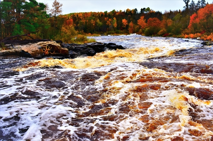 Took this on recent trip with a quick stop to enjoy the rapids @ Bigfalls, MN.