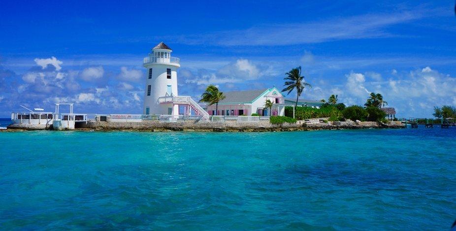 Pearl Island lighthouse. The Bahamas