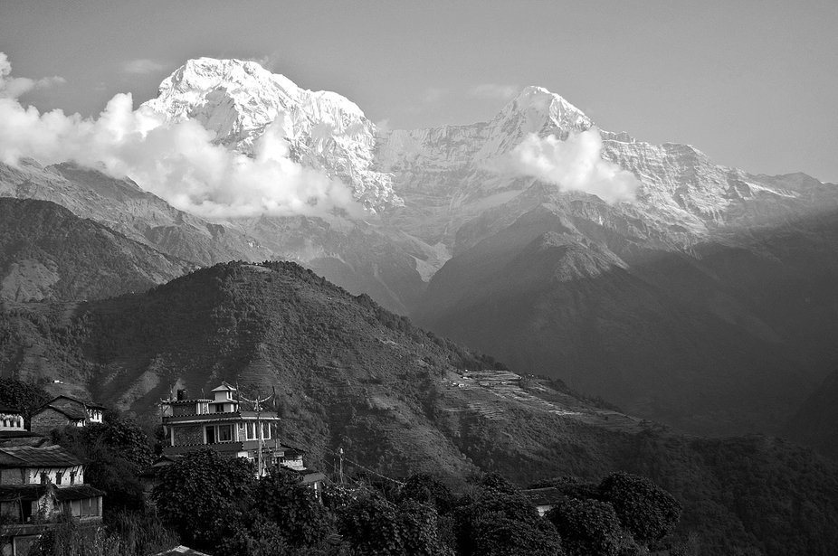 We were trekking and climbing around the Annapurna Region for a few months and after a week or so...