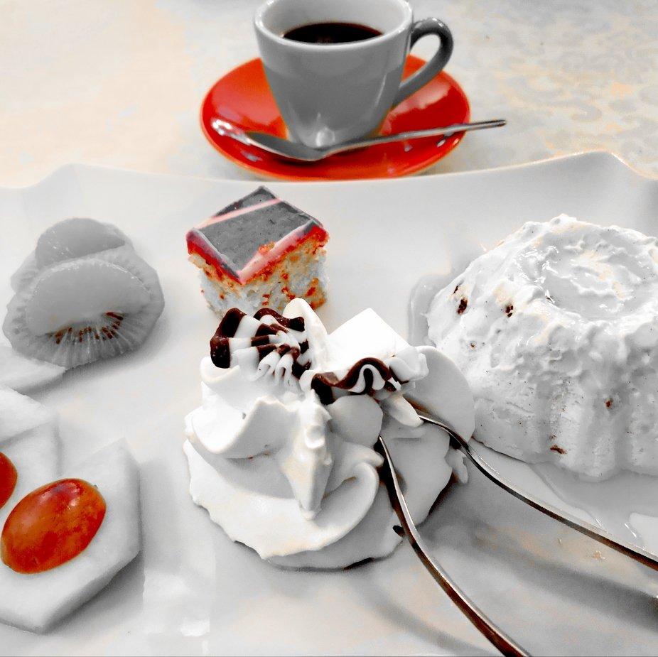 Espresso zum Dessert