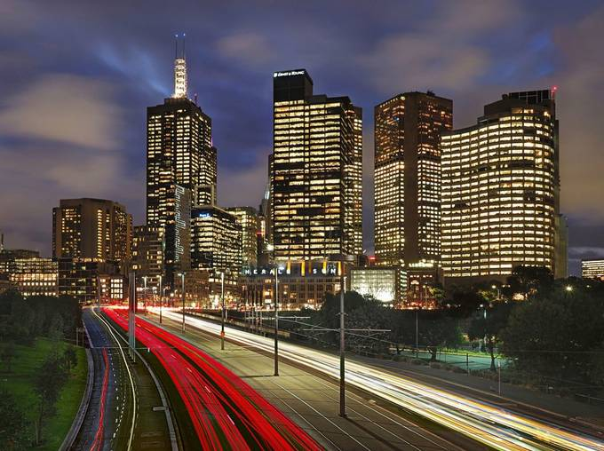 Melbourne on a Friday Night by peterh - Bright City Lights Photo Contest