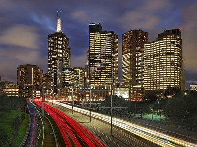 Melbourne on a Friday Night