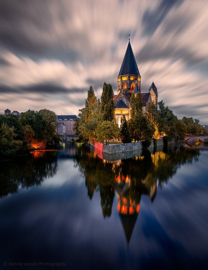 Metz Temple Neuf by Fannie_Jowski - Bright City Lights Photo Contest