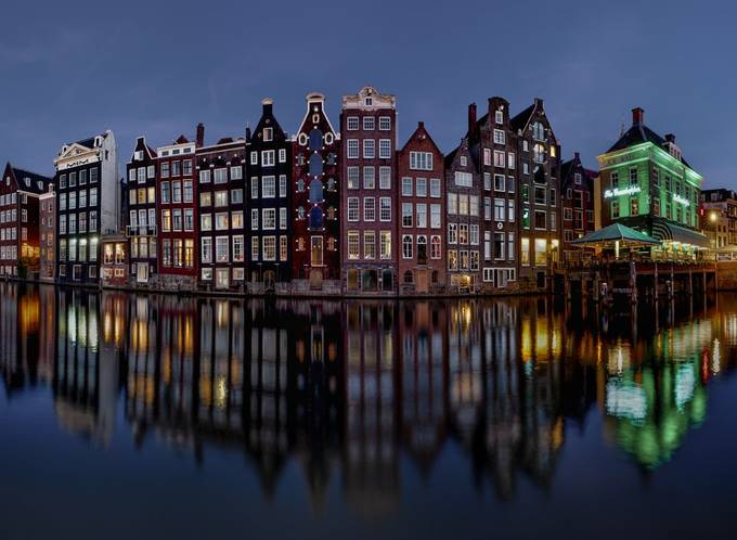 Amsterdam evening by swqaz - Bright City Lights Photo Contest