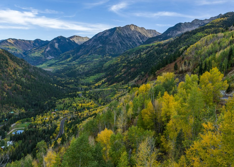 Looking down McClure pass this fall toward Marble Colorado
