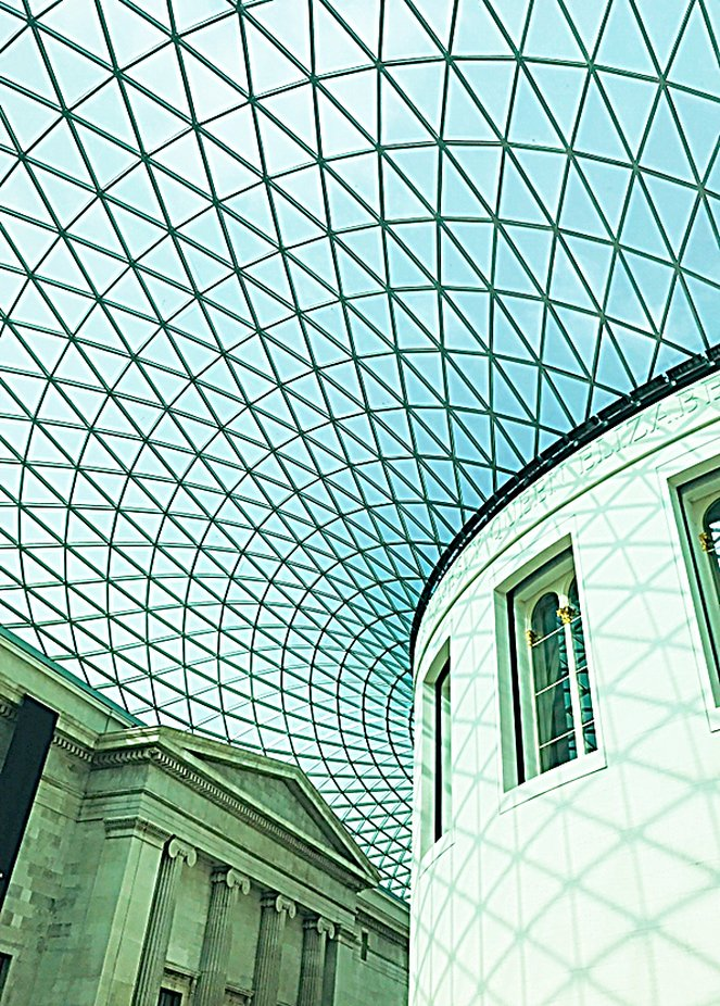 British Museum - buildings housed under glass, great shadows to shoot!