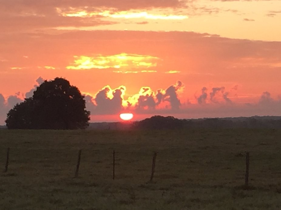 Sunset in Kirtly Texas