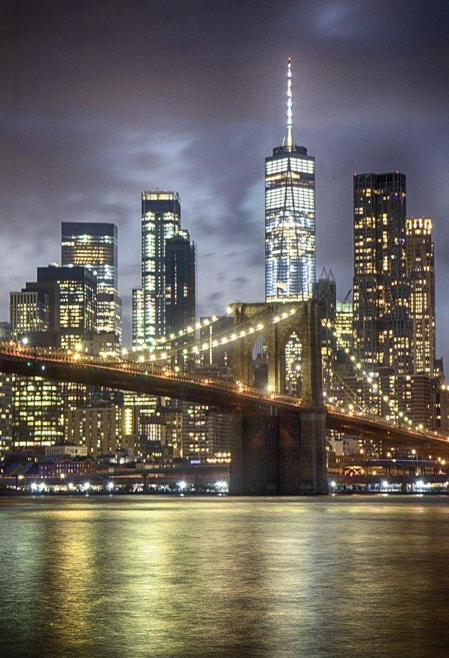 Brooklyn Bridge  by paulkammen - Bright City Lights Photo Contest