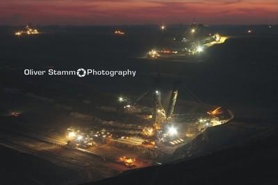 Brown Coal Mining in open cast Garzweiler near Cologne.