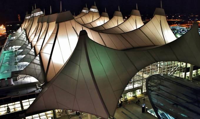 Denver International at Night by NaturallyMitchRothman - Public Transport Hubs Photo Contest