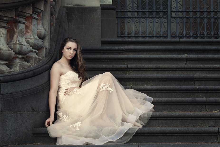I photographed Emma on a beautiful staircase at the Old Post Office in Bendigo, Victoria, Austral...