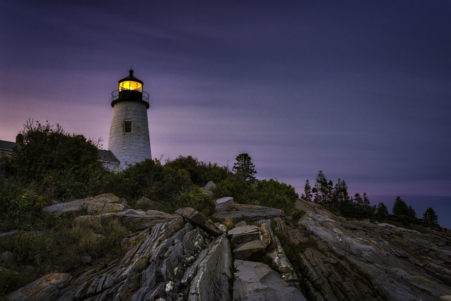 A view from Pemaquid Point just after sunset