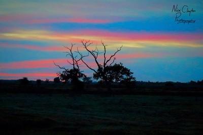 Suffolk UK Sunset 15.10.18