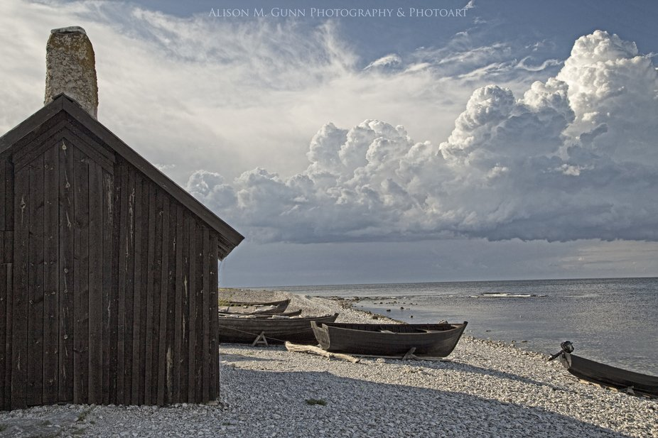 Taken on the island of Fårö, Sweden, a collection of fishing 'stugan' (cabins...