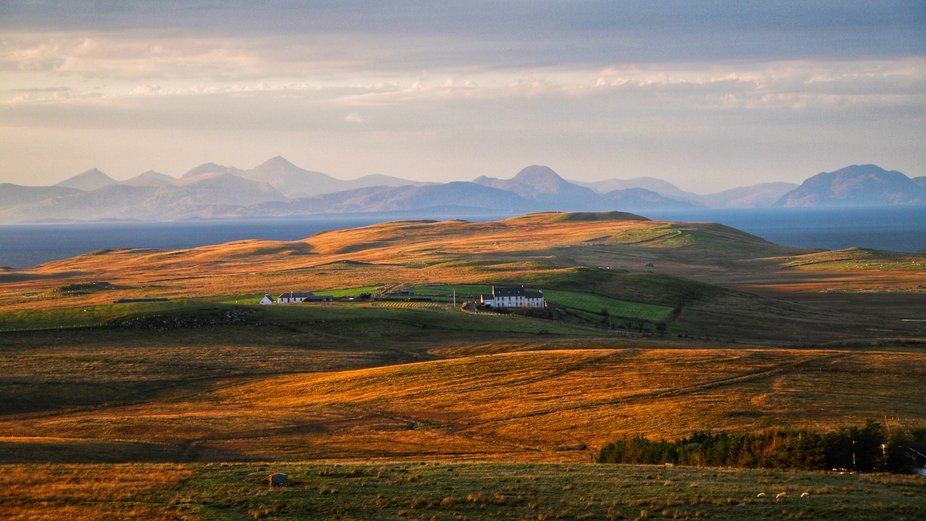 Pictures landscape of Isle of Skye by the Inner Seas off West Scotland-Atlantic Sea. The cottage ...