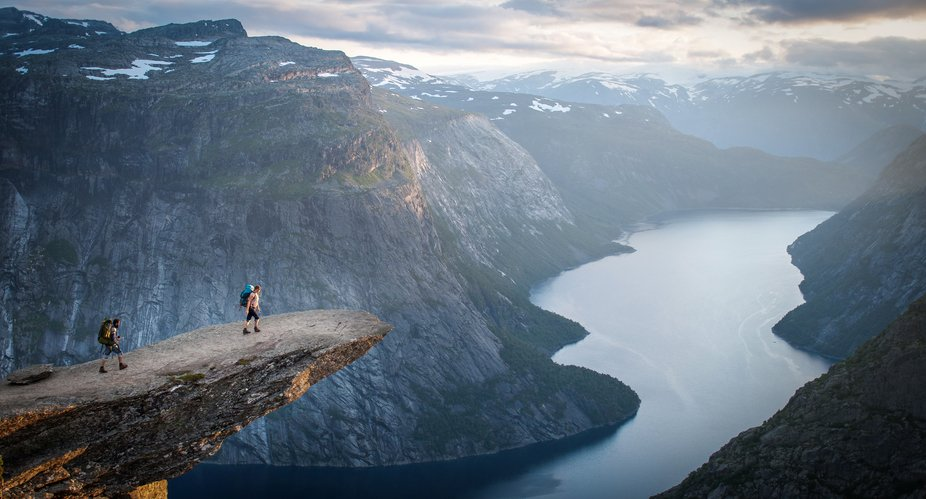 2014 we hiked to the famous Trolltunga in Norway. No way I was going to walk to the tip of this r...