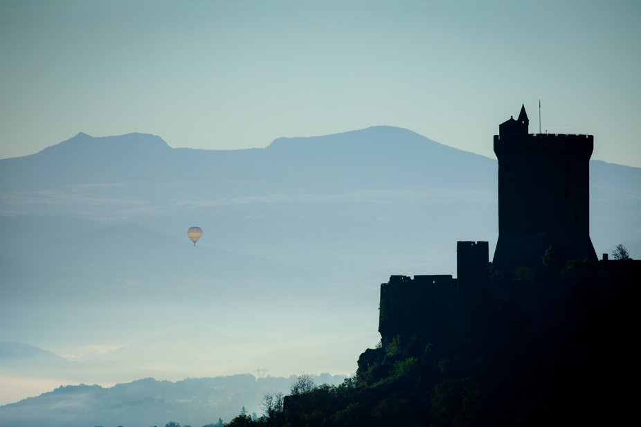 Castle Polignac (Auvergne, France) in the morning
