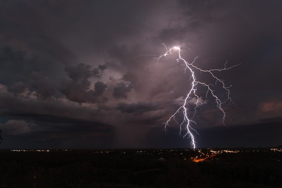 This was taken at Cloncurry, Queensland. The storms in the far north can be quite spectacular and...