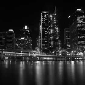Brisbane city at night shot from Southbank