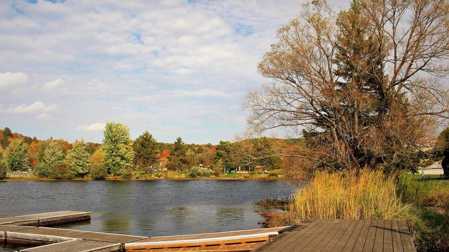 Peak Fall colour in the Haliburton Highlands of Central Ontario