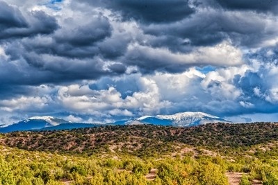 New Mexico storm clouds