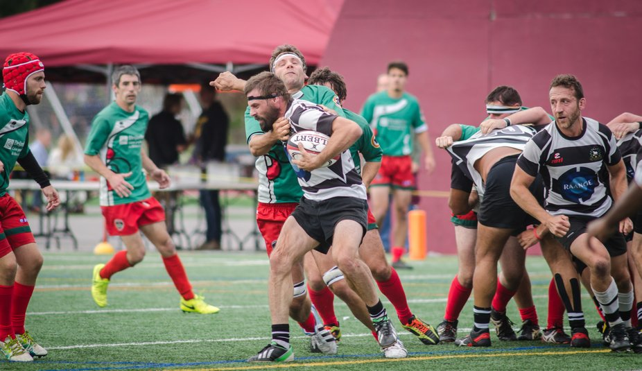 Rugby game with the Montreal Barbarians