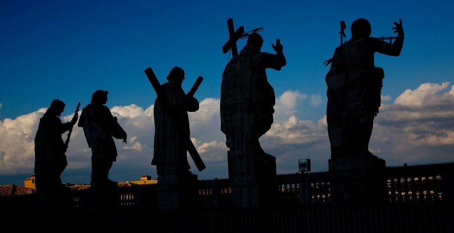 Some of the Apostles on top of the Vatican, Rome, Italy,