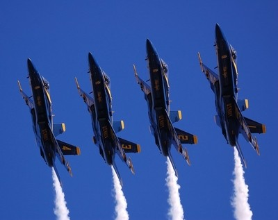 Blue Angles Over Head High Speed