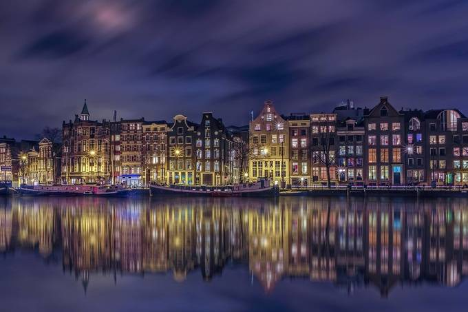 Skyline Amsterdam by DennisartPhotography - Bright City Lights Photo Contest