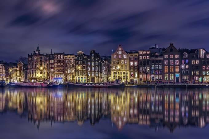 Skyline Amsterdam by DennisartPhotography - Bright City Lights Photo Contest