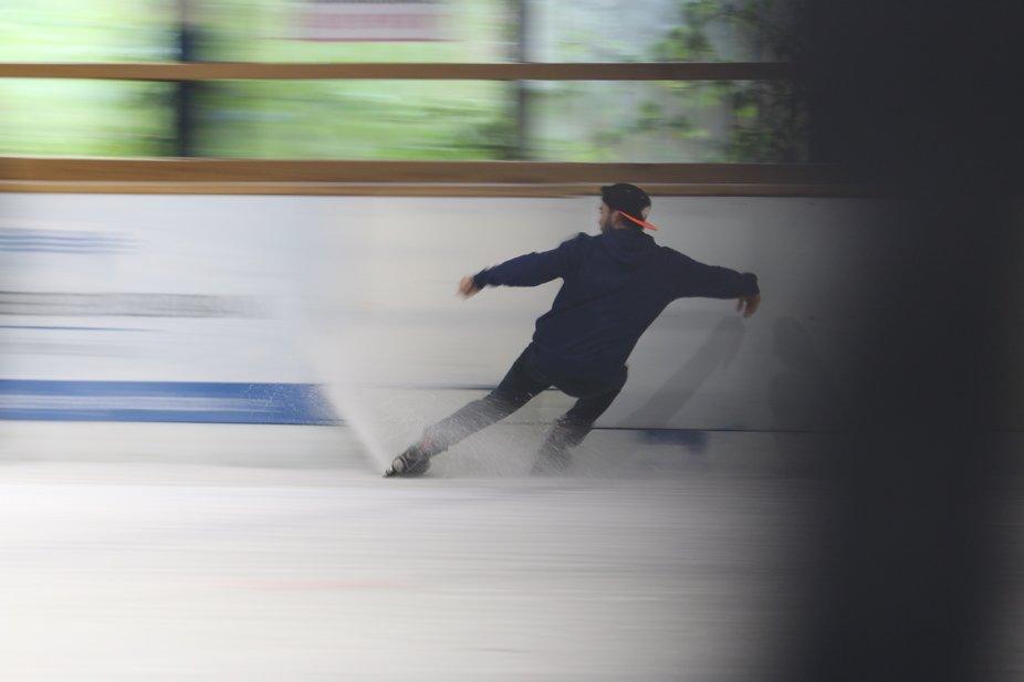 enjoying ice skating